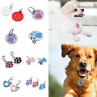 Personalised Glitter Name ID Customised Paw Tag Anti-Lost Dog Cat Pet Collar Tag