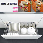 Pull Out Wire Basket Set Kitchen Larder Storage For Cupboard Pantry Stainess US
