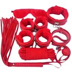 Unisex - 7Pcs Set SM Handcuffs Cuffs Strap Whip Rope Neck Cosplay Sex Toy US SHIPPING