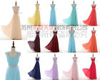 Long Chiffon Evening Formal Party Ball Gown Prom Bridesmaid Dress size 6~20+++