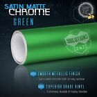 GREEN Satin Matte Chrome Metallic Vinyl Film Wrap Sticker Bubble Free Air Custom $41.15 USD