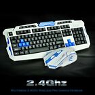 2.4G Wireless Gaming Keyboard and Mouse Set Kit for Computer PC Multimedia Gamer