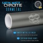 GUNMETAL Premium Satin Matte Chrome Metallic Vinyl Film Wrap Sticker Air Free $41.15 USD