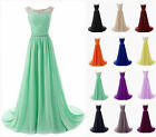 2017 New Long Chiffon Prom Dresses Bridesmaid Evening Formal Party Gown Stock