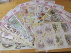 Anita's A4 Die-cut Foiled Decoupage Sheets Scenery, Animals, Flowers & Occasions