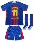 Barcelona #11 NEYMAR Jr. Home Kids Soccer Jersey & Shorts Youth Sizes