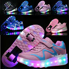 Adult Kids LED Light Shoes with One Wheel Two Wheels Skating Sneakers Sport Shoe