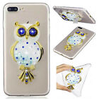 3D Dynamic Liquid Owl Transparent Tpu Case Cover For Various Mobile Phones