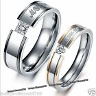 My Love Rings Engraved Promise Valentine Gifts For Her Him Wife Couple Men Women