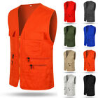 Men's Multi Pocket Photography Director Vest Tops Travelers Fishing Outdoor Vest