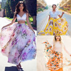 Summer BOHO Women's Casual Loose Floral Chiffon Full Long Maxi Skirt Beachwear