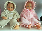 "Handmade Baby0-3mths reborns/Annabelle dolls clothes 18"" Coat and Bonnet New"