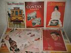 Vintage Style Advert Postcards Olivetti Contax Clothes Shoes Swimwear Magazines
