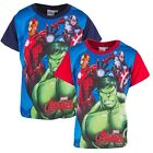 Boys Marvel Avengers Ironman Hulk Captain America Cotton T-Shirt 3 to 8 Years