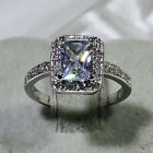 18K White Gold Filled Women Fashion Jewelry Lady Engagement Wedding Ring R7876