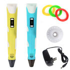 Plastic LCD 3D Printing Pen Crafting Doodle Drawing Arts Printer PLA/ABS Filamen