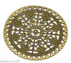 Wholesale Lots BT Filigree Round Wraps Connectors Embellishments Findings Dia