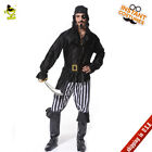 adult pirate halloween costume - Adult Men Cool Pirate Costumes Halloween Stiped Buccaneer Role Play Fancy Dress