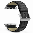 Band for Apple Watch 42mm,  Premium Genuine Leather Crocodile Pattern Strap New