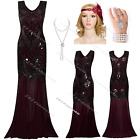 1920s Flapper Dress Costume Long Gatsby Fringe Party Outfit Clubwear 8 10 12 14