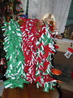 NEW Handmade fleece scarves scarf Christmas Holiday colors red white green