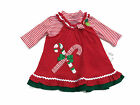 Rare Too Girls Red Christmas Candy Cane Jumper Dress Holiday Sizes 6M 9M