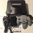 N64 Nintendo 64 Charcoal Grey Console Only +**Expansion pak & complete OPTIONS**