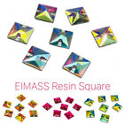 Square Shape EIMASS® Sew or Glue on Resin Crystals for Costumes & Embellishment