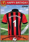 Bournemouth Inspired Football Birthday Cards (2 Designs) - Personalised