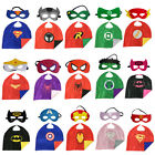 Marvel DC Comic Superhero Cape and Mask Costumes Party Kids Gift Halloween Xmas