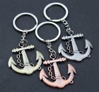 2017 Fashion Riding boat anchor couple key chain ornaments Men Key ring key fob