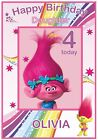 Cute and Personalised Trolls Inspired Birthday Card (5 Designs) - Gorgeous !