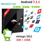 H96 PRO TV BOX Amlogic S912 Octa core Android 7.1.1 OS set Top Box 3G+32G