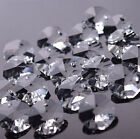 100pcs 14MM Octagon Glass Beads Crystal Chandelier Parts Decoration +Free Rings