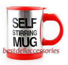 Auto Mixing Tea Cup Stainless Plain Lazy Self Stirring Mug Coffee Soup 400ml