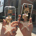Luxury Bling Crystal Starfish Conch Tassel Pendant Charm Soft Phone Case Cover