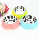 High Quality Stainless Steel Plastic Dog Bowl Combo Products