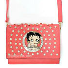 Betty Boop pink circle quilted Rhinestone stitch cross shoulder party bag purse $25.52 USD