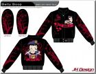 "NEW Ladies Betty Boop Twill Jacket by JH Design ""QUEEN OF THE ROAD""  Rockabilly"