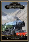 Personalised Flying Scotsman Steam Train Christmas Card (Any Name & Relation)