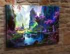 "Extra Large Canvas Wall Art Picture Print Abstract Japanese Landscape 20""x30"""