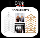 IKEA BUMERANG Wooden Clothes Hangers Natural White/Natural STRONG FAST DELIVERY