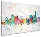 Manchester England Skyline Cityscape Box Canvas and Poster Print (2016)