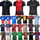 Men Marvel Avengers Superhero T-Shirt Compression Base Layer Cycling Jersey Top