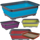 Collapsible Washing-Up Bowl with Grey Rim - Assorted Colours
