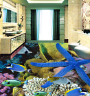 3D Starfish Fish Sea 7 Floor WallPaper Murals Wall Print Decal 5D AU Lemon