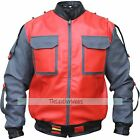 Back To The Future Michael J. Fox Marty Mcfly Leather Red Jacket All-Sizes