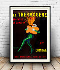 Le Thermogene  : Vintage  French advertising , Wall art , poster, Reproduction.