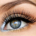 Fashion Thick 3D Messy False Eyeleshes 100% Mink Fur Eyelashes Make Up Handmade