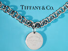 Tiffany & Co Return To Tiffany Sterling Silver Round Circle Tag Necklace